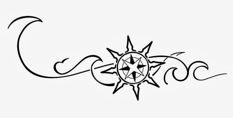 "Armband ""sun wind-rose"" Samoan tattoo stencil"