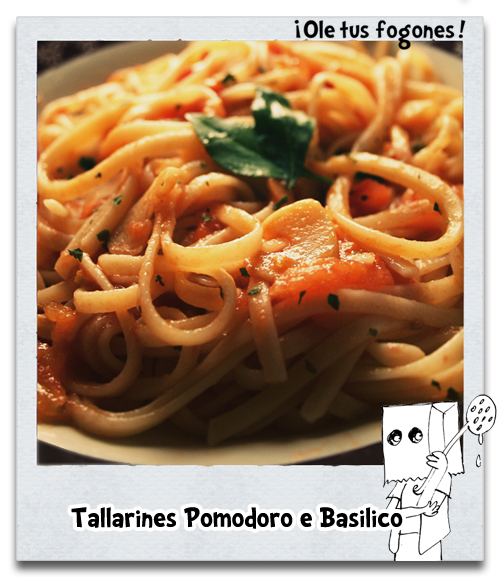 Tallarines Pomodoro e Basilico
