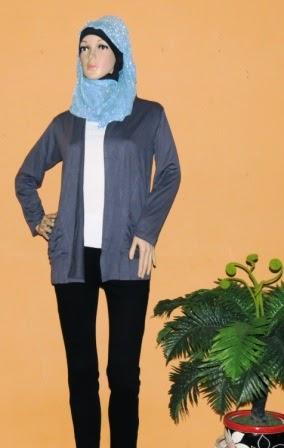 Cardigan Bahan Kaos Dengan Saku BKM2083