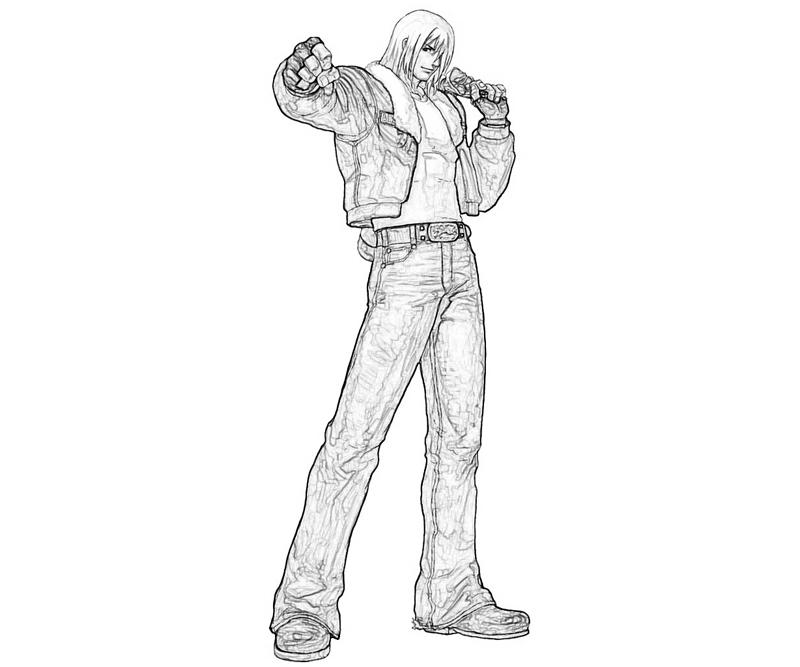king-of-fighters-terry-bogard-handsome-coloring-pages