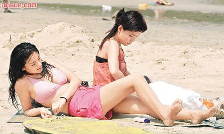 kitty zhang yuqi on the beach
