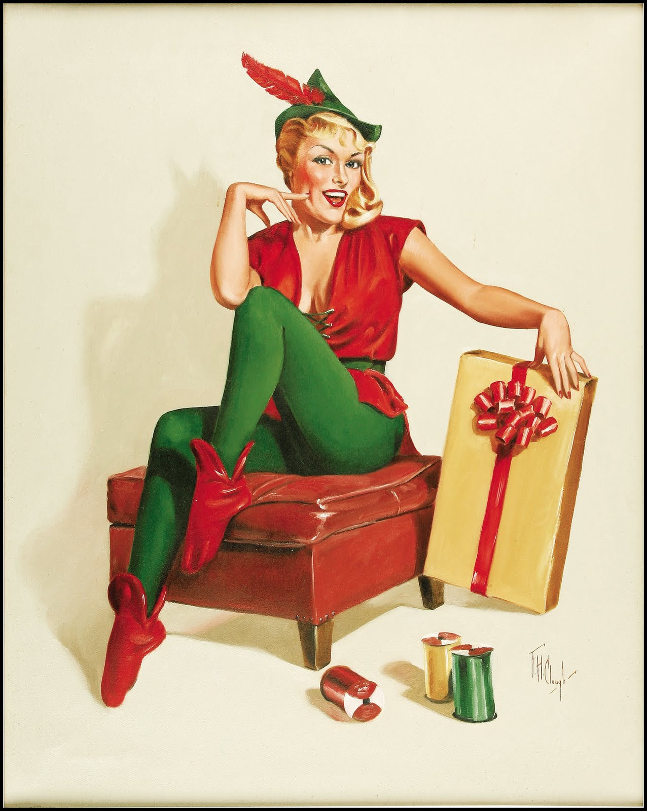 Fantasy Ink: More Christmas Pinups!