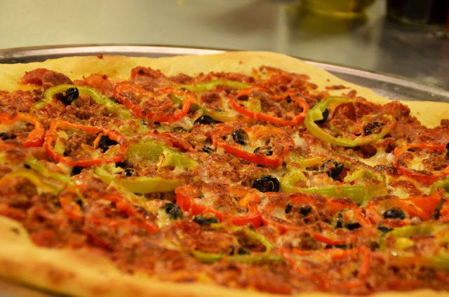 5-Meat Giant Pizza Recipe