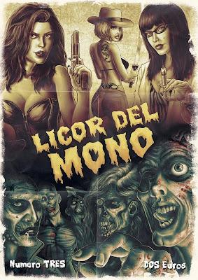 portada del fanzine Licor del Mono arte, dibujo, color, maquetación, concepto y tinta creados por NachoMG