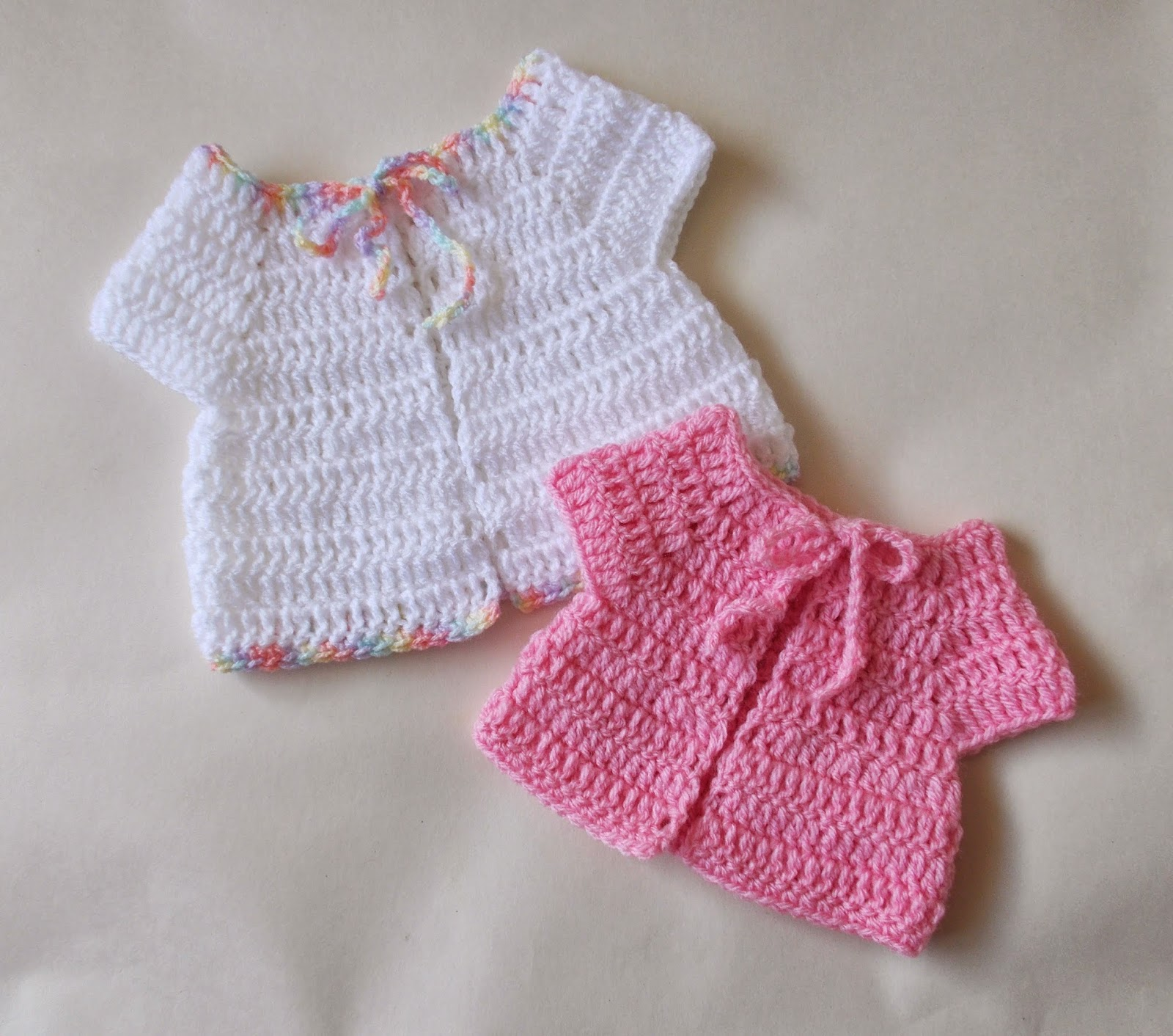 mariannas lazy daisy days: Premature Baby Crochet Baby Jacket