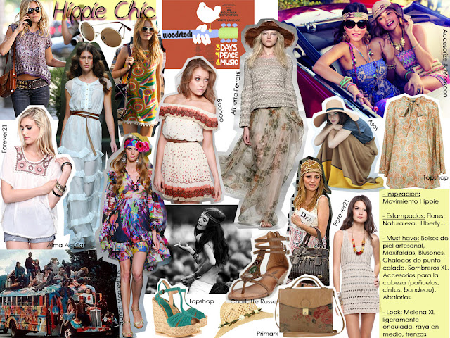 tendencia hippie chic