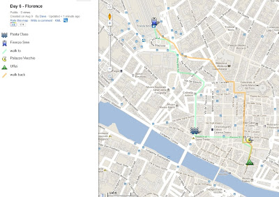 florence, italy, map, google maps, pasta cooking class, duomo, ponte vecchio bridge,