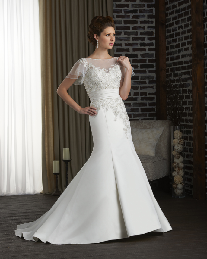Wedding Dress With Turquoise Sash 1 Lovely Bonny Collection