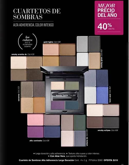 sombras yanbal por $215 C-2 2015