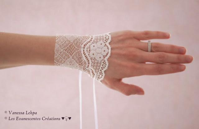 beaux bijoux de mariée en dentelle de calais et strass swarovski, création de Vanessa Lekpa Atelier