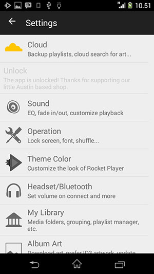 rocket music player premium gratis