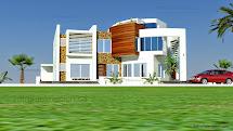 3D Villa Modern House Plans
