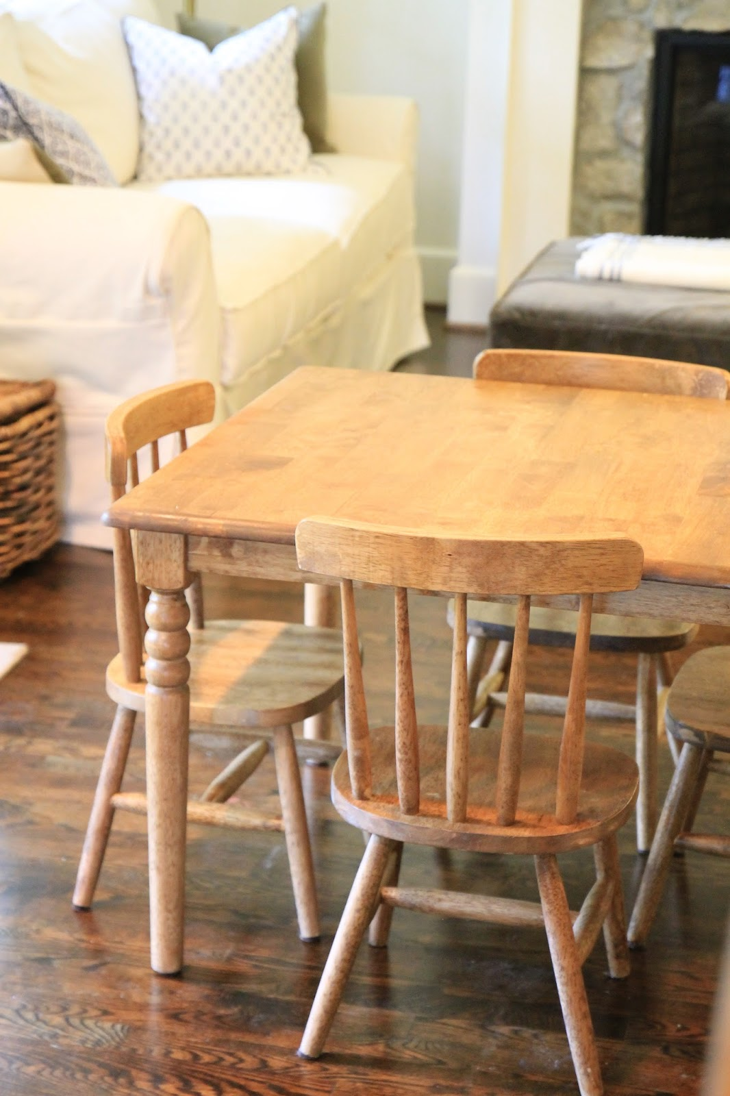 Jenny Steffens Hobick: Finishing an Unfinished Kids Table & Chairs