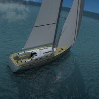 3d sailing boat bavaria cruiser