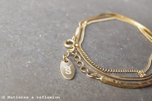 Bracelet jonc multi-chaine Stalactite bijoux vermeil argent plaqué or
