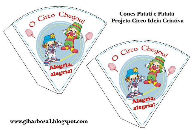 Cone Patati e Patatá Projeto Circo
