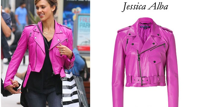 Hot Pink Leather Jacket | Outdoor Jacket