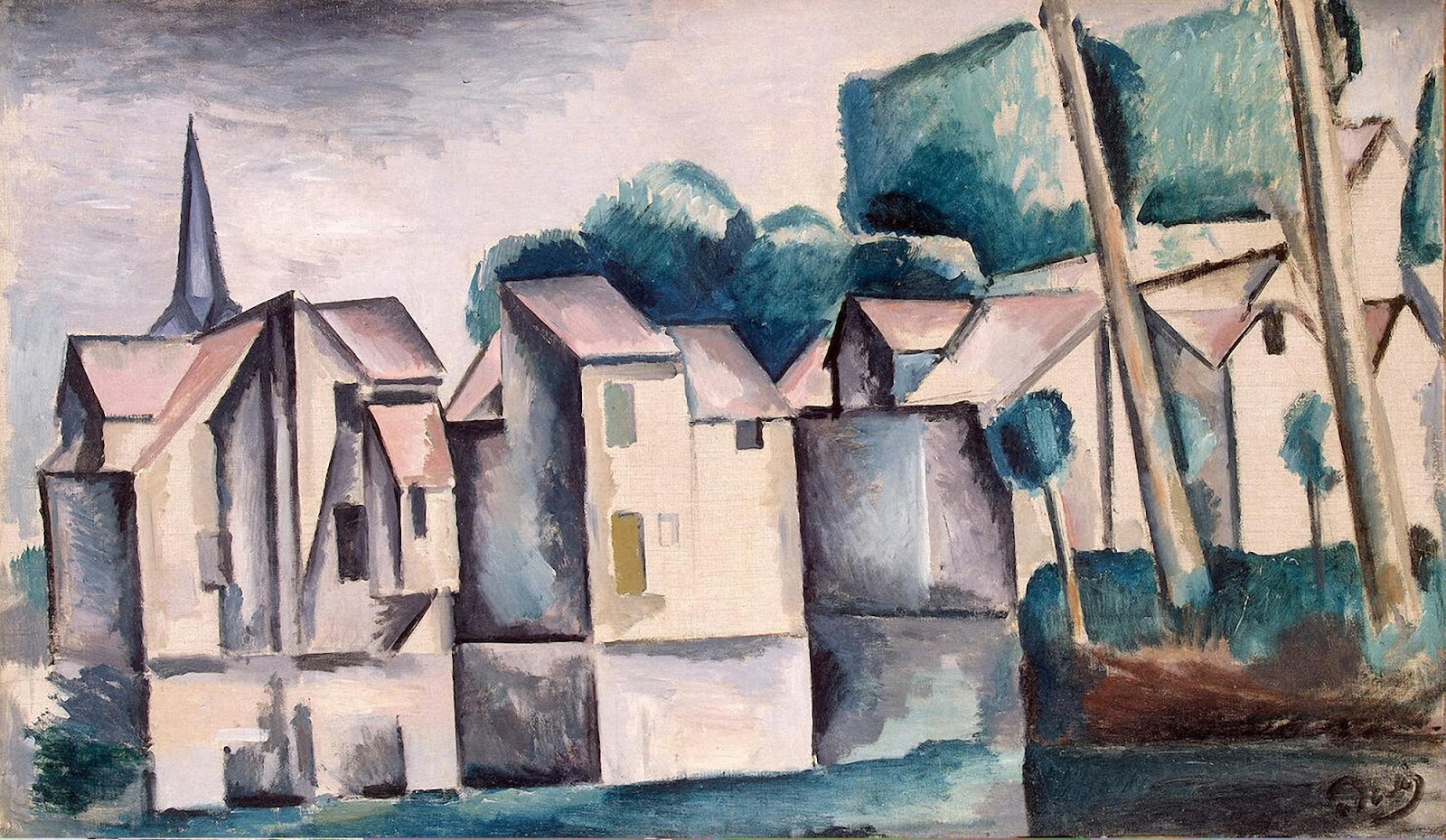 Andre Derain houses on the waterfront