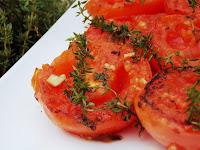 Tomates Grelhados com Tomilho (vegana)