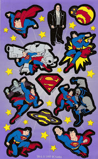 Superman the Animated Series stickers from 1997