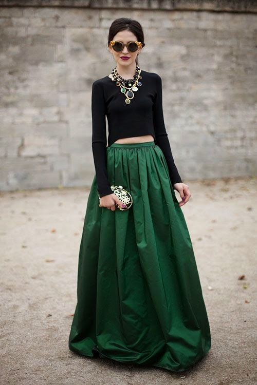 Obsessions by Gessica: Wearing the Maxi Skirt