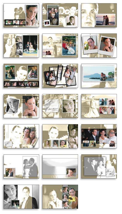 free wedding album templates