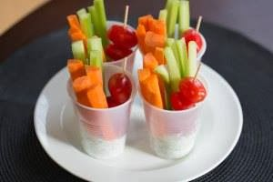 Super Bowl veggie cups