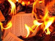 papel quemandose