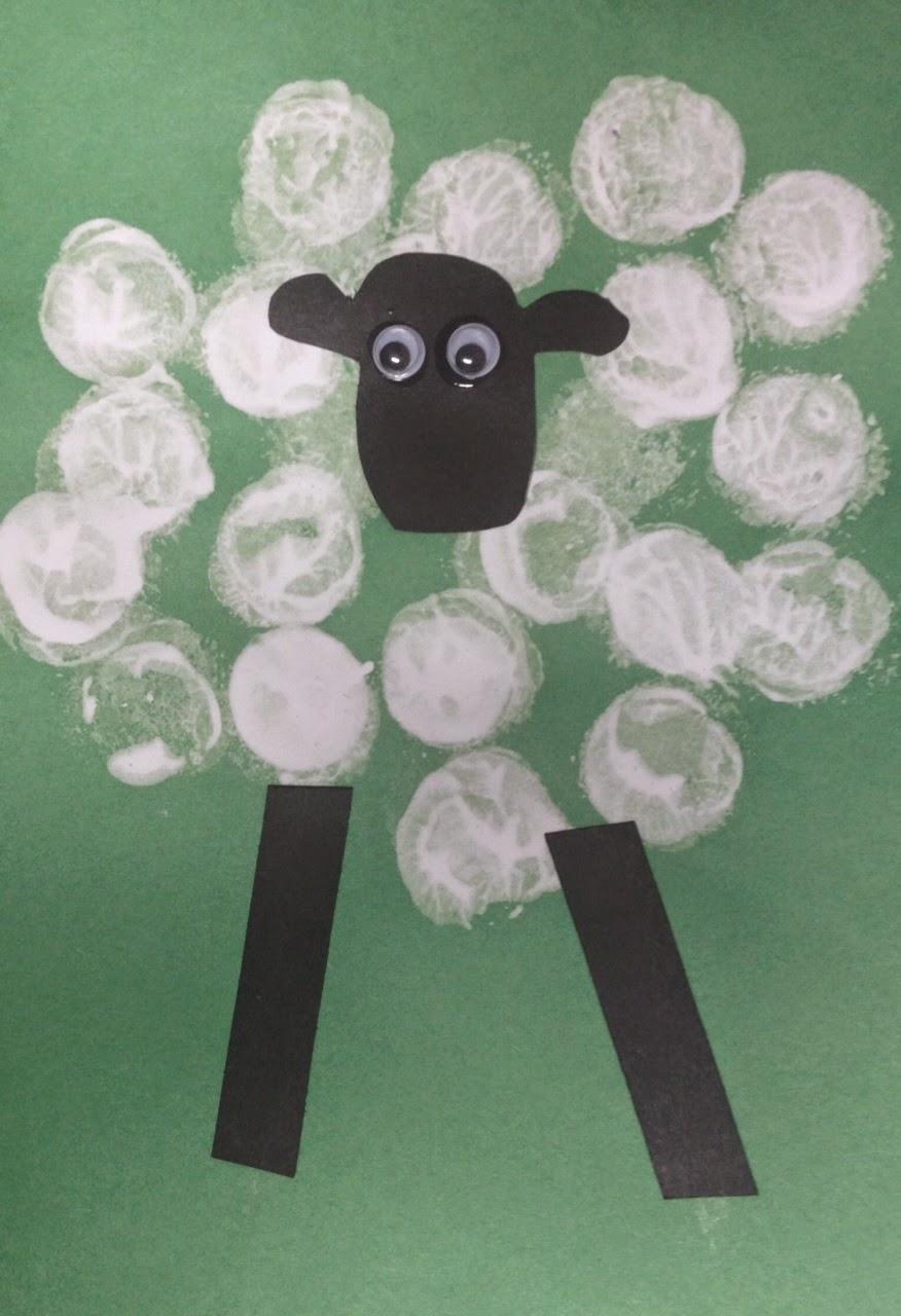 Easy Preschool Lamb Craft