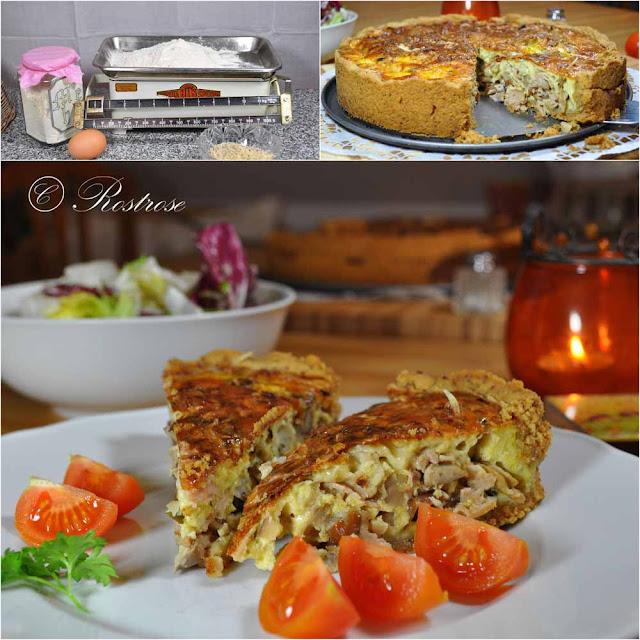Rostrose Herbst Rezept Quiche Lorraine Mit Pilzen Und Maronen