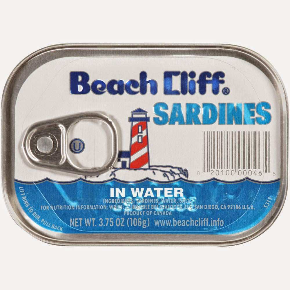 Beach Cliff® Sardines in Water. Roll over image to zoom in.