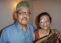 Manna Dey with his wife Sulochona Dey