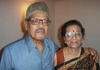 Manna Dey with his wife Sulochona Dey