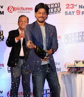 Shah rukh khan and Rohit shetty at Zee Tv's Success Party For Chennai Express