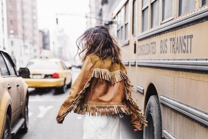 street style, fringe jacket