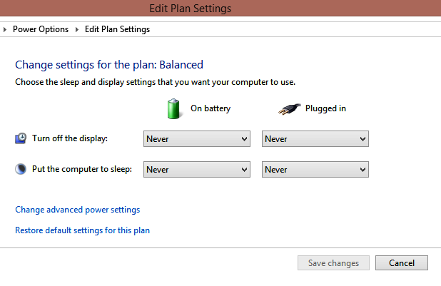 Cara Disable Auto Sleep/Standby Windows 8