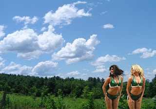 Boston Celtics Free Wallpapers Celtics images of beautiful cheerleaders babes in Forest Sky background