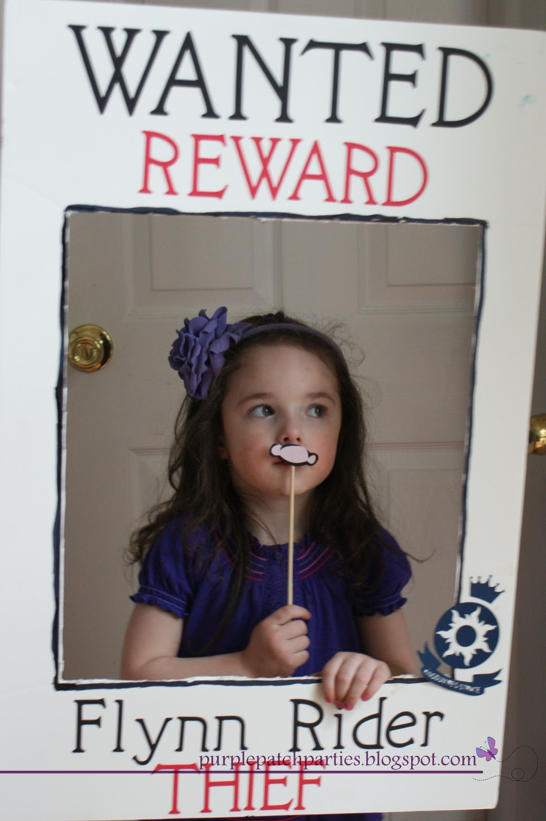 Flynn Rider Wanted Poster http://purplepatchparties.blogspot.com/2012/04/tangled-4th-birthday-party.html