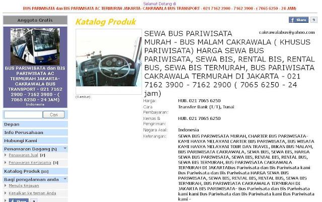 sewa bus wisata