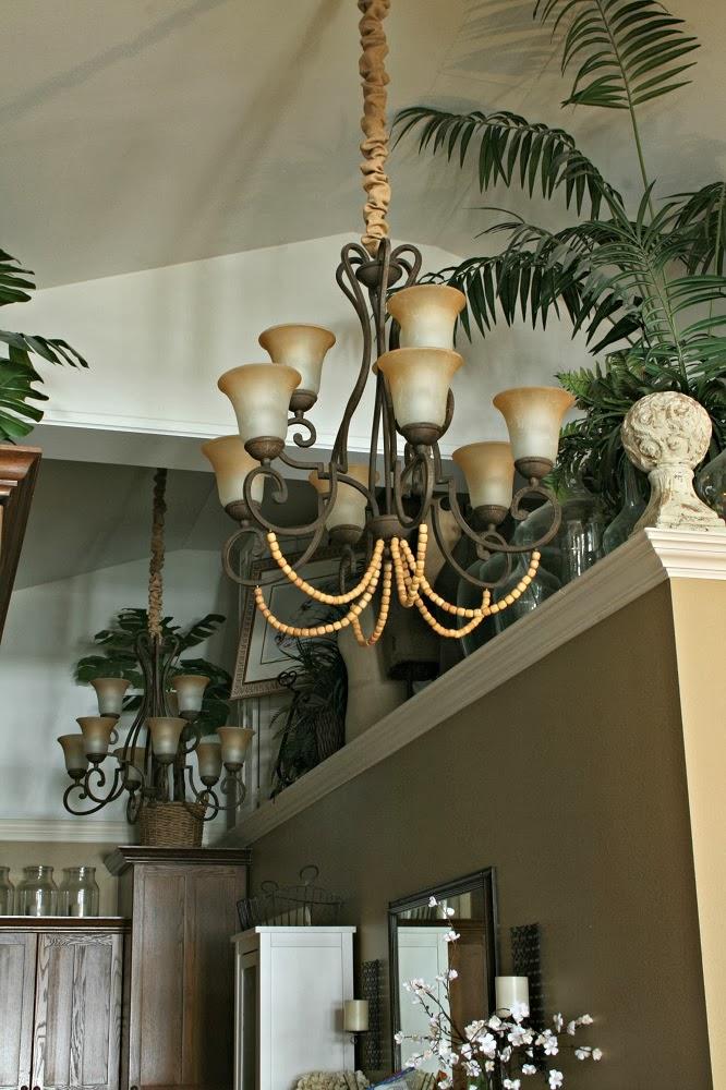 wood bead chandelier add on, magnetic chandelier chain