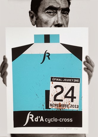 "L''affiche de ""Rd'A cyclo-cross"" en sérigraphie"