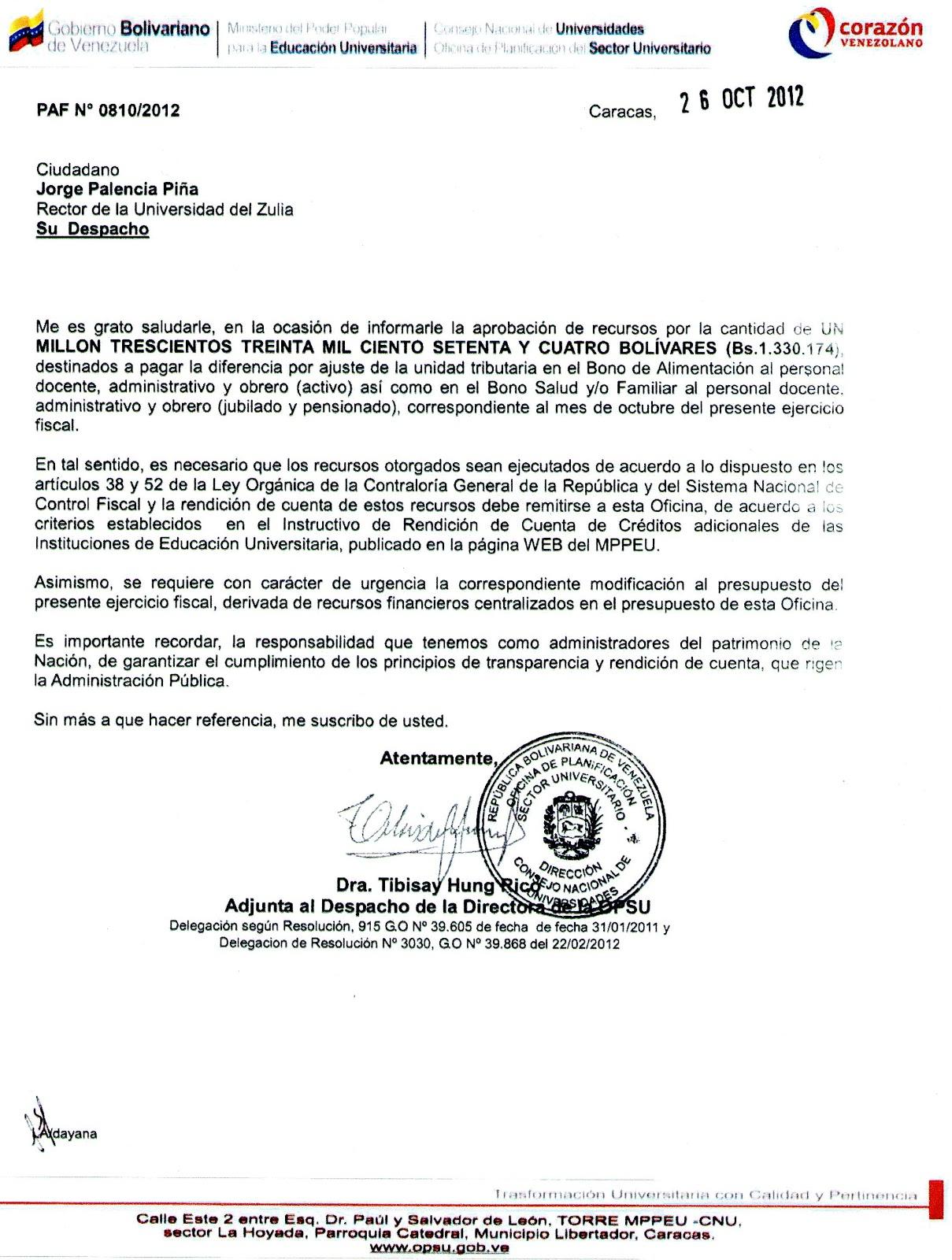 Cartelera gremial actualizaci n de la ut bono for Solicitud de chequera banco venezuela