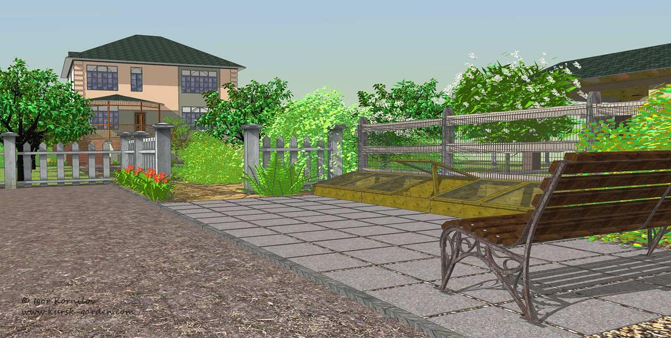Ландшафтный проект, зона огорода