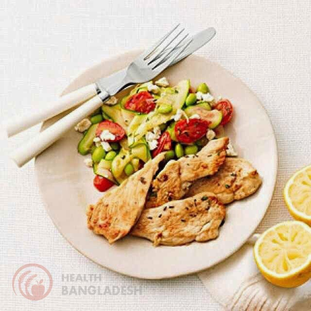 Lemon-Thyme Chicken With Sauteed Vegetables