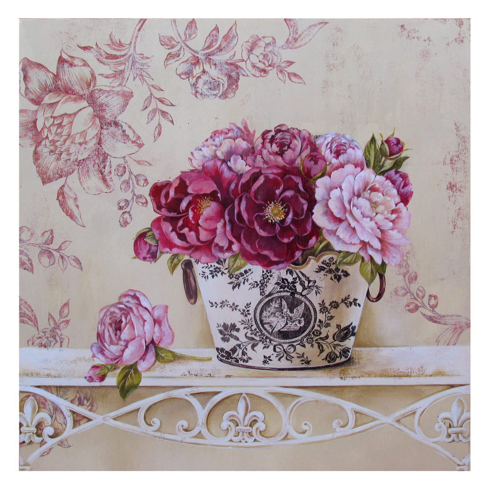 Картинки для декупажа цветы прованс 7