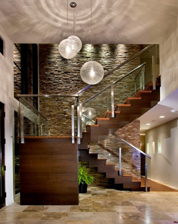 This Is Living room design ideas, natural stone wall in the ...