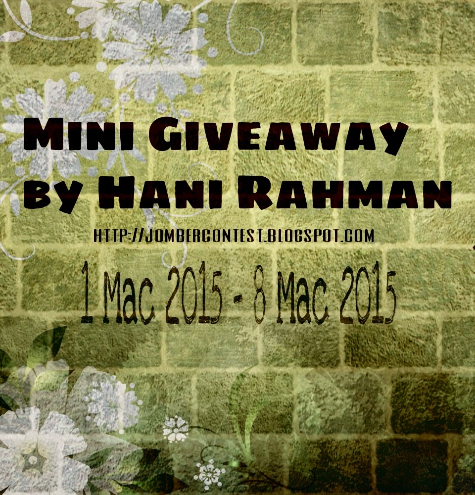 Mini Giveaway by Hani Rahman