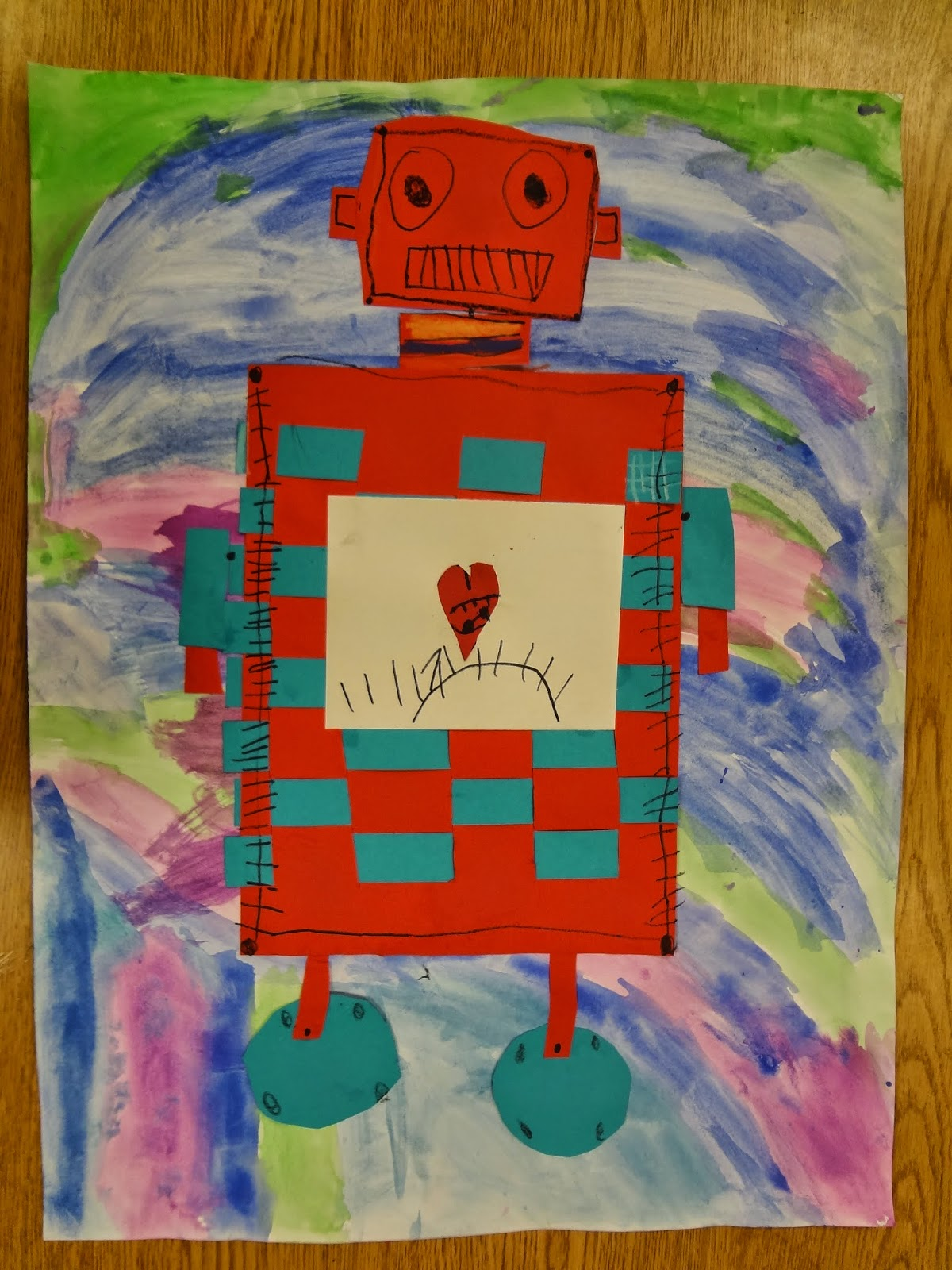 Construction Paper Robot And Construction Paper