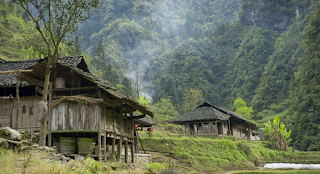Zhang Jiawan village, the mountain-top village