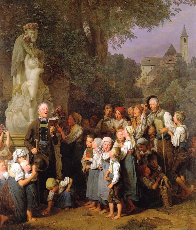Ferdinand Georg Waldmüller - Die Verehrung des heiligen